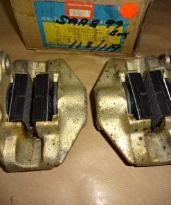 2 st. Bromsok med bromsbelägg och monteringssats, BAK, SAAB 99 , 05.68- 74 höger / vänster system ATE Ref.nr. SAAB 787171 / 787172 SAAB 7871718 / 7871726