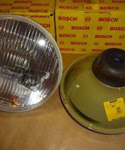 """2 st. Bosch Strålkastare ( nr. Bosch 0 301 813 103 ) Volvo 164, 164 E, 08.68- 07.74 Volvo 240, 242 GT, 08.74- 09.78 8"""" / H4 Givetvis nya."""