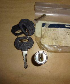 Låscylinder med 2 st. nycklar ( tändningslås ) Original SAAB 99,90,900 1974-1993 Art.nr. SAAB 828379, SAAB 8283798